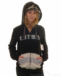 Etnies Zip Hooded Girls Black