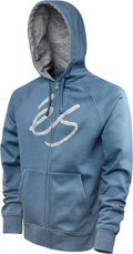 �s Zip Up Kapuzenpullover Skript Fill blau