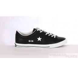 Converse One Star  Ox Lea Leder black/white Schuhe