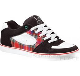 es Square One Skaterschuhe schwarz/weiß/rot