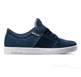 Supra Stacks Suede Canvas Schuhe blau