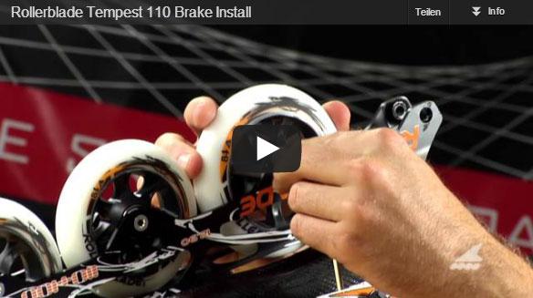Anbringen eines Bremssystems an einem Rollerblade Tempest 110