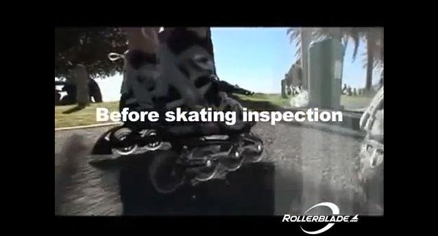Die Inspektion vor dem Skaten