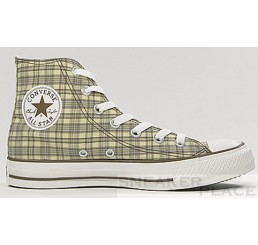 Converse Chucks All-Stars Hi Specialty Plaid tan Schuhe