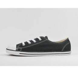 Converse All Star Dainty OX Tex Schwarz